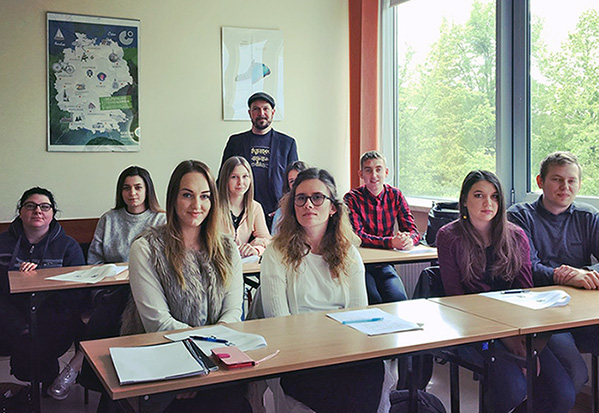 Spotkanie Marcela Kruegera ze studentami