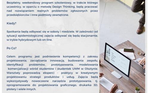 Ulotka Letniej Szkoły Zarządzania Innowacją.
