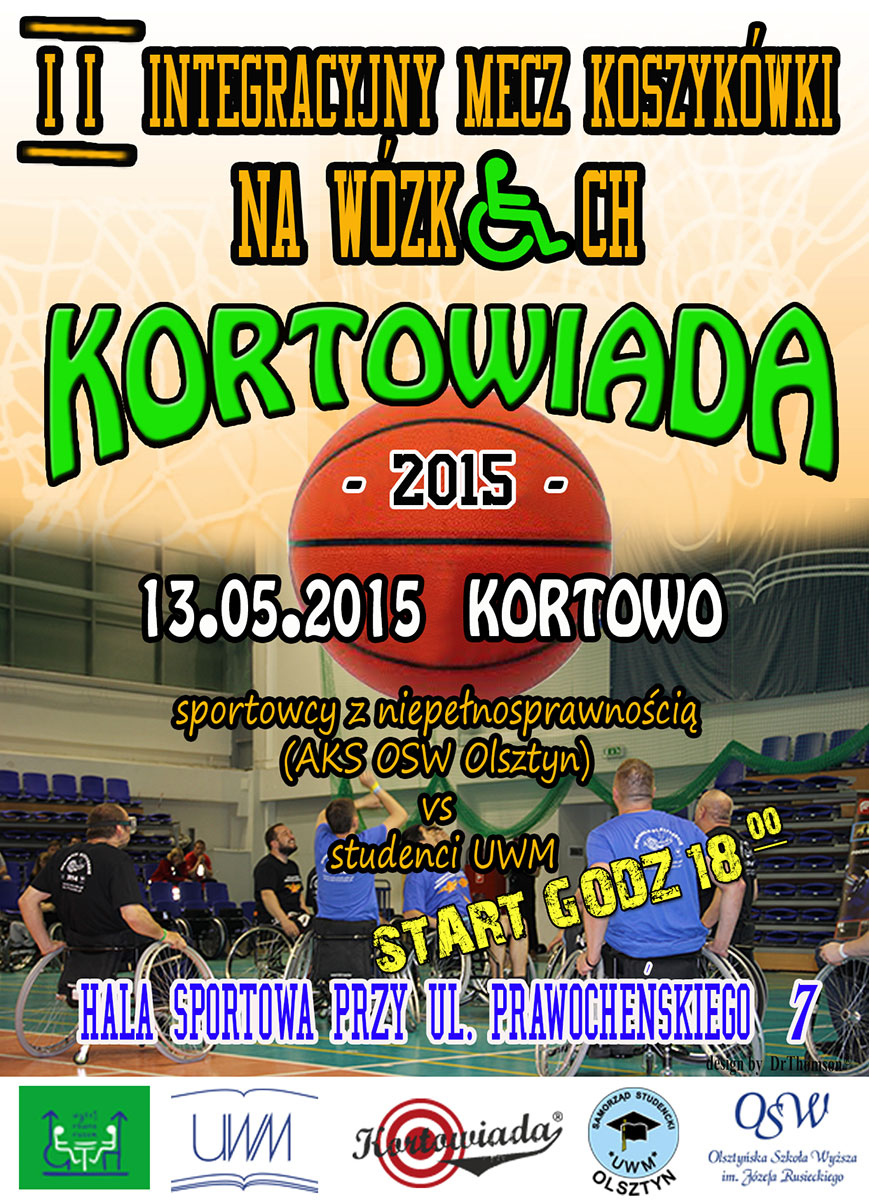 II Integracyjny mecz koszykówki na wózkach 13.05.2015 r.